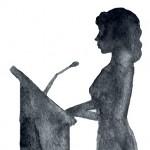 mujer podium